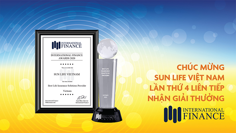 Bảo hiểm Nhân thọ Sun Life Việt Nam lần thứ 4 liên tiếp nhận giải thưởng từ Tạp chí Tài chính Quốc Tế