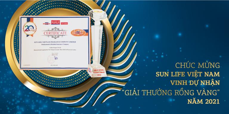Bảo hiểm Nhân thọ Sun Life Việt Nam nhận giải thưởng Rồng Vàng