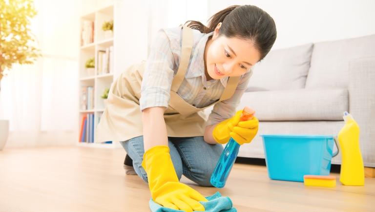 Vệ sinh nhà cửa sạch sẽ